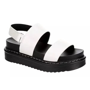 LIMELIGHT White Open Toe Chunky Platform Sandals